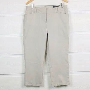 ANN TAYLOR FACTORY Curvy Khaki Cropped Pants